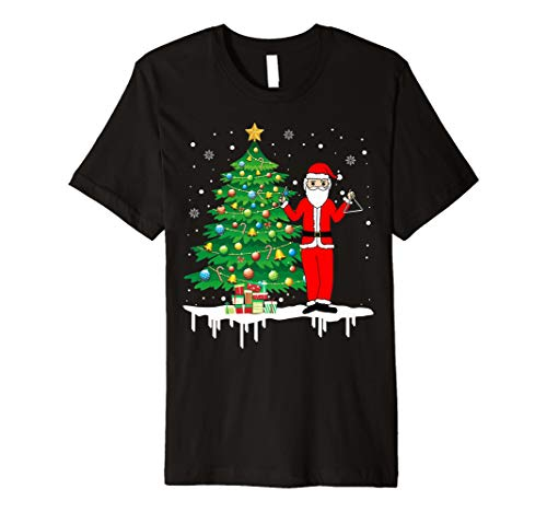 Weihnachtsmann, der lustiges T-Shirt des Dreiecks -