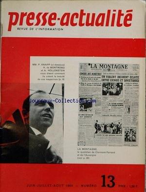 PRESSE ACTUALITE [No 13] du 01/06/1964