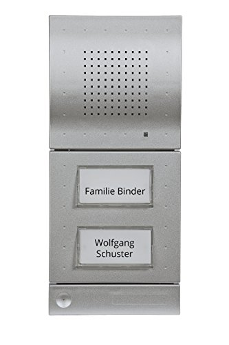 DoorLine Classic Silber Türsprechanlage, Klingel, Türöffner anschließbar, Haustelefon und Handy als Gegensprechanlage, Anschluss a/b 2-Draht