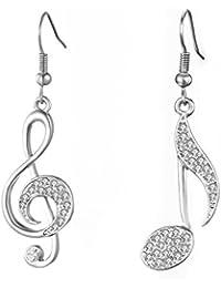 700a054f6f5fc2 Orecchini pendenti per donne, orecchini con note musicali Orecchini con  pendenti ragazze in oro o argento con orecchini…