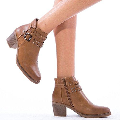 Ideal Shoes ,  Stivali donna Marrone