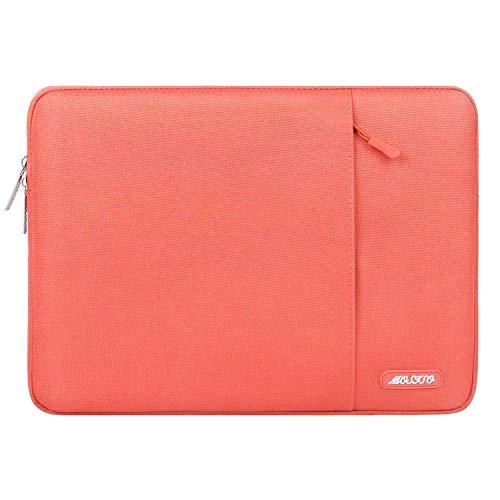 MOSISO Laptophülle Kompatibel 13-13,3 Zoll MacBook Air, MacBook Pro, Notebook Computer, Polyester Wasserabweisend Vertikale Stil Sleeve Hülle Schutzhülle Laptoptasche Notebooktasche, Lebende Koralle