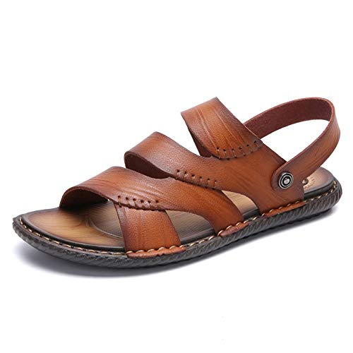 HILOTU-Sandali uomo Open Toes Pantofole Summer Outdoor Traspirante Sport Beach Sandals (Color : Gold, Dimensione : 38 EU)
