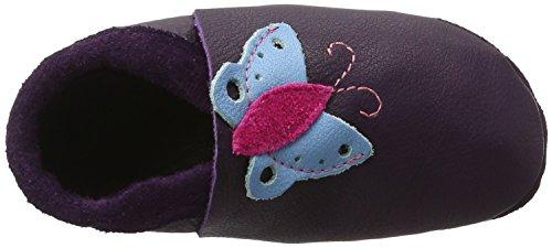 Pololo Butterfly Mädchen Flache Hausschuhe Violett (Aubergine)