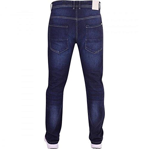 Crosshatch Herren Straight Leg Jeanshose Dark Wash Blue