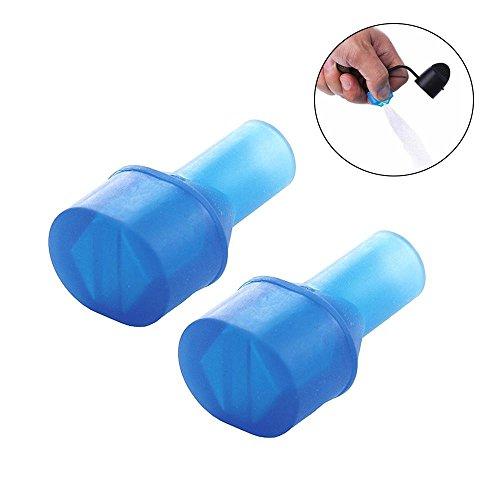 leegoal 2 Stück Bissventil Ersatz für Trinkblase Bissventil Ersatz Camelback Wasser Reservoir Mundstück für Wasserblase Trinkrucksack Blase kompatibel mit den meisten Marken, 2 Packs (Hydratation Blase Mundstück)