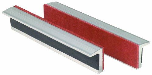 KS Tools 914.0090 Alu-Schraubstock-Schonbacken,Gummibesatz,100mm