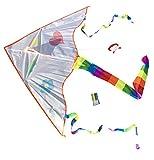 Toller Kinderdrachen zum selbst bemalen inclusive Schnur und 4 Stiften | Drachenflieger | Kinder-Drachen | Individuell gestalten | selber Basteln | Kindergeburtstag | molinoRC® BRD