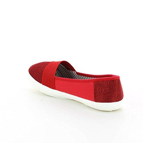 Ballerine in tela e brillante Rosso (rosso)
