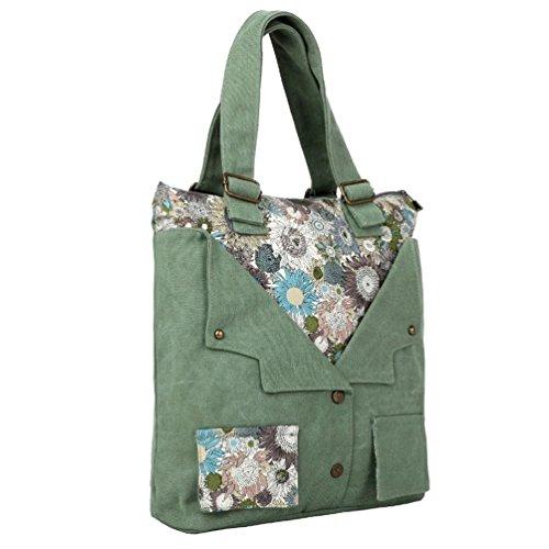 Chang Spent nuova spalla borsa di tela dello shopping femminile portatile Re , green Green