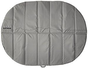 Ruffwear Tapis pour chien, Idéal pour le camping et la randonnée, Taille unique – Convient à la plupart des chiens, Gris (Granite Grey), Highlands Pad, 1050-035M