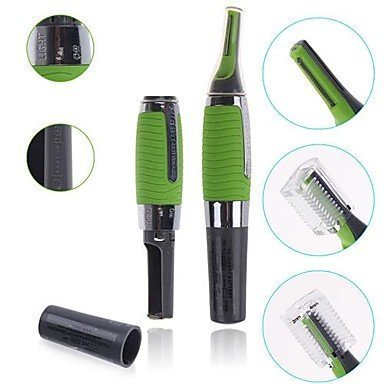 Harikrishnavilla Micro Touches Max Cordless Nose Hair Trimmer With Built In Led Light - Green
