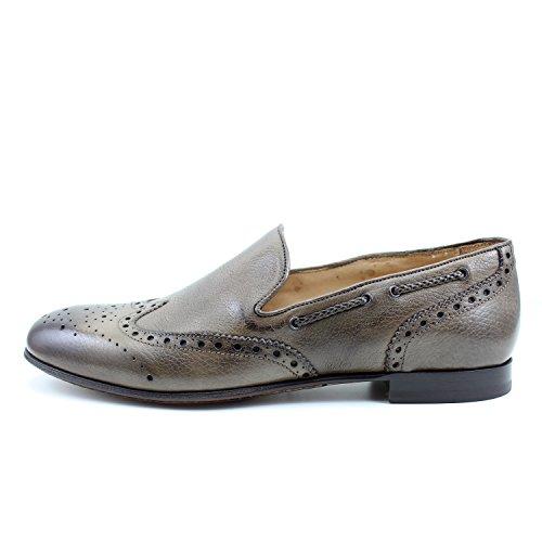 GIORGIO REA Chaussures Homme Marron Mocassins Mâle Main Italiennes, Cuir, Élégant, Classique, Oxford Classic Shoes