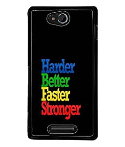 PrintVisa Designer Back Case Cover for Sony Xperia C S39h :: Sony Xperia C C2305 (Stronger Much more)