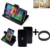 K-S-Trade® Hülle Schutzhülle Case Für -Allview X4 Soul Infinity N- + Bumper Handyhülle Flipcase Smartphone Cover Handy Schutz Tasche Walletcase Schwarz (1x)