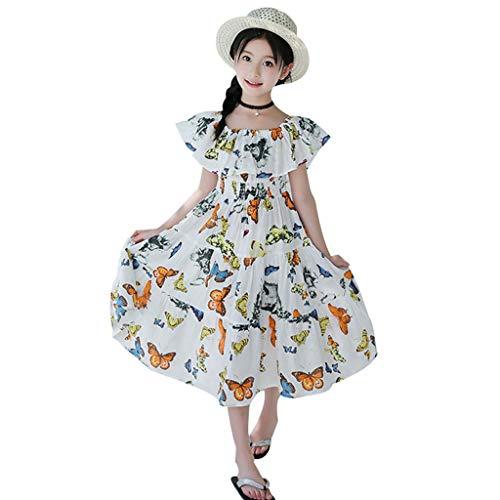┃byeeet┃ abiti estivi stampa floreale abiti famiglia senza maniche corti abito bimba principessa - vestito bambina estivo - vestiti donna eleganti estate