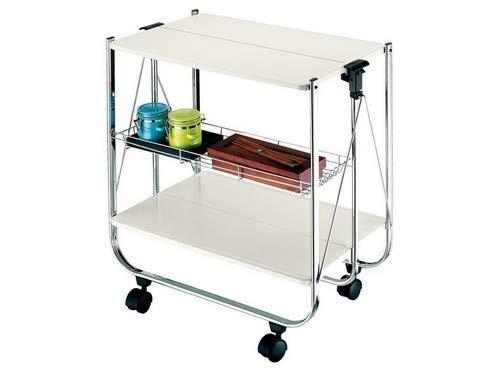 Wink Design Tomasucci Kit verschließbarer Küchenwagen, Metall, Weiß