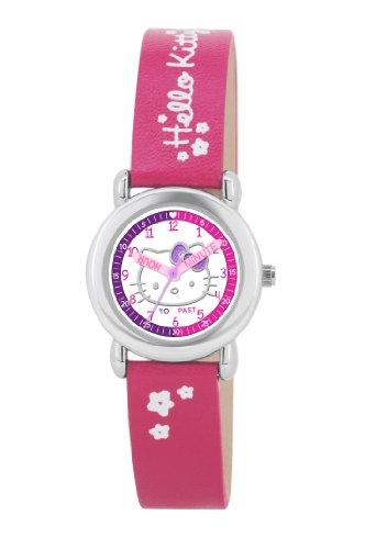Hello Kitty–HK024–Montre pour Filles, Bracelet en Plastique Rose