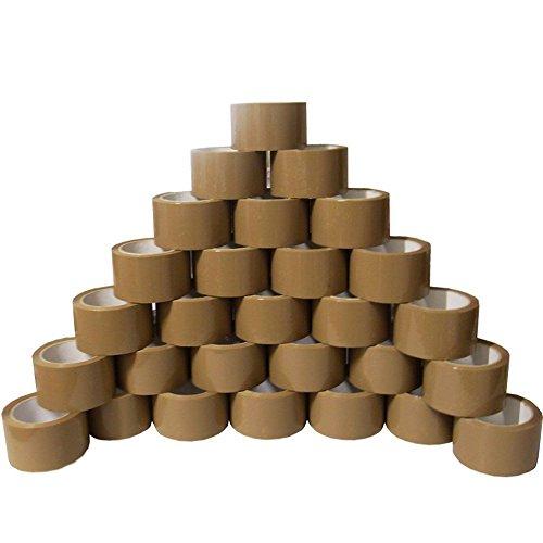 6 rouleaux de ruban adhésif transparent - Ruban d'emballage 12 Rollen marron