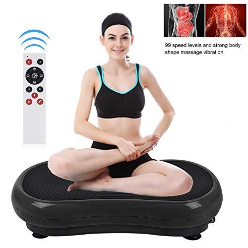 Homgrace Plataforma Vibratoria con Control Remoto, Pantalla LCD, 99 Velocidades Silenciosa para Fitness Entrenamiento Ejercicio y Relajar Músculos Negro