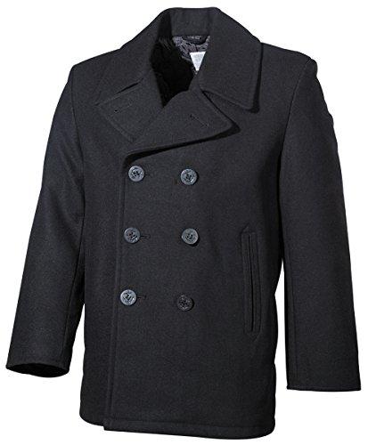Pea Coat - Marine Mantel schwarz S-XXL XXL (Für Coat Pea Damen)
