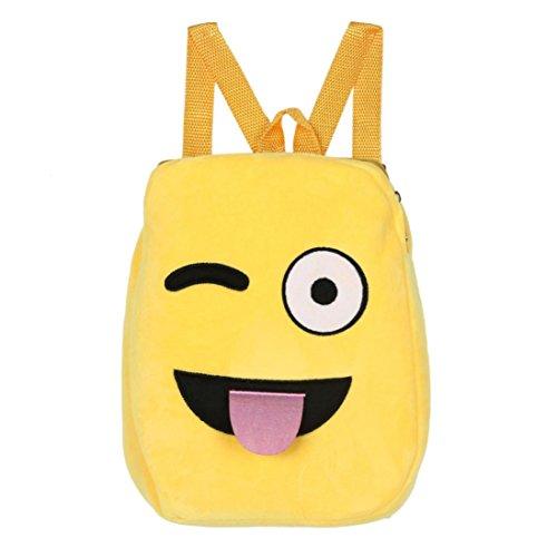 Imagen de goodsatar emoji lindo emoticon hombro escuela  para  infantil bolso de la  de la taleguilla g