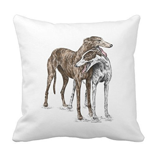 personalized-18x18-inch-square-cotton-pillowcases-two-greyhound-friends-dog-art-throw-pillow-covers