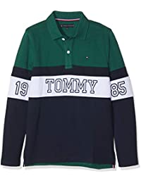 Tommy Hilfiger Jungen Poloshirt Essential Panel Print Polo L/S