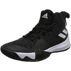 Adidas Explosive Flash K, Zapatillas de Baloncesto Unisex Niño, Negro (Negbas/Carbon/Ftwbla 000), 37 1/3 EU