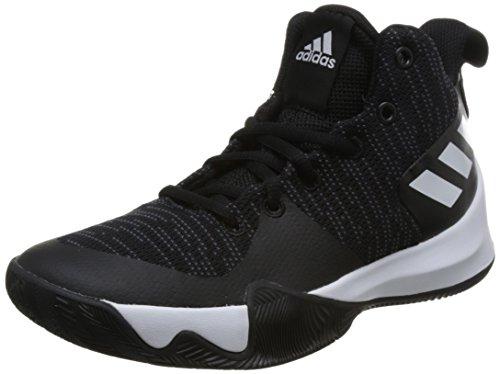 adidas Unisex-Kinder Explosive Flash K Basketballschuhe, Schwarz (Negbas/Carbon/Ftwbla 000), 38 EU