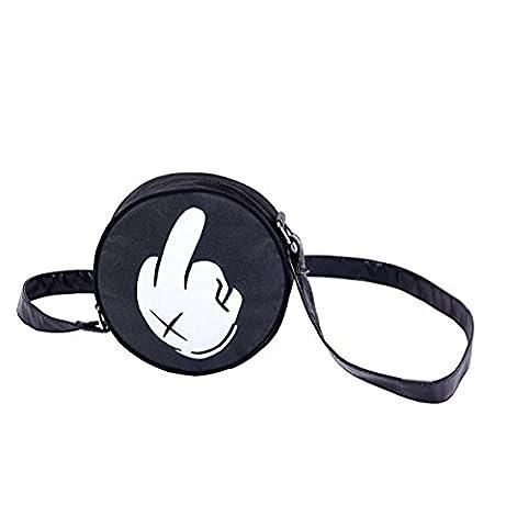 Round bag Shoulder bag Handbag Shoulder bag Evening bag Outdoor bag, variant Middle finger