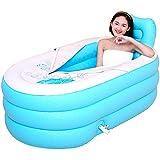 WU LAI Faltbadewanne Für Erwachsene | Aufblasbare Badewanne | Tragbare Badewanne | Für SPA-Belüftungsbadewanne (Farbe: Blau, Pink),Blue-70x80x145cm