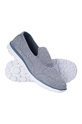 Mountain Warehouse Lighthouse Schuhe für Damen - Leichte Damensommersneaker, geformtes Fußbett, Laufsohle Gummi, Zum Schlüpfen - Für Frühlingsreisen, Laufen, Fitness Blau 37 EU (Geformtes Fußbett)