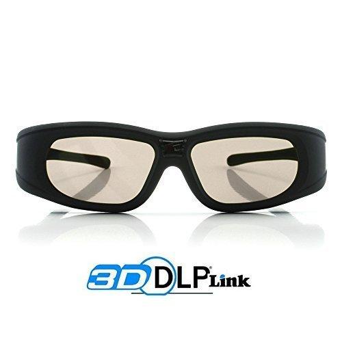 "2x 3D Active Shutterbrille für 3D Beamer - \""Wave Xtra series\"" - Full HD 1080p - Universal DLP-Link 3D Brillen kompatibel mit alle DLP projecktoren"