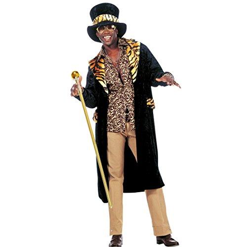 Amakando Pimp Stick Zuhälter Stab - zerlegbar - 20er 30er Jahre Dandystock Gehstock Lude Checker Tanzstock Kostüm Zubehör Herren Goldener Dandy Stock