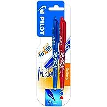Pilot Spain Frixion Ball - Bolígrafo borrable, 2 unidades, color azul y rojo