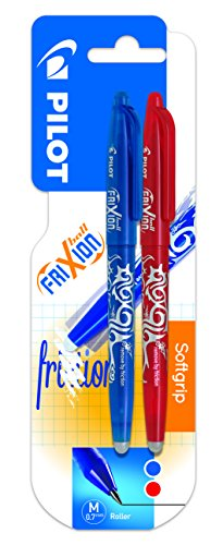 Pilot Spain Frixion Ball - Bolígrafo borrable, 2 unidades, color azul y rojo