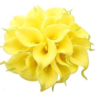 StarLifey 20 unidades Lirio de Cala Artificial Calidad Ramo de Flores Sensación real al tacto Perfecto para la Boda, Nupcial, Partido, Hogar, Oficina de la Decoración de DIY