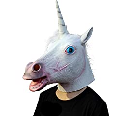 Idea Regalo - Original Cup Costume da Halloween in Lattice con Maschera a Testa di Unicorno (Unicorn)