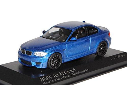 Preisvergleich Produktbild BMW 1er 1 M Coupe Coupe Monte Carlo Blau Metallic E82 2007-2013 1/43 Minichamps Modell Auto mit individiuellem Wunschkennzeichen