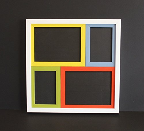 Colourful Wall Collage with 4 Frames