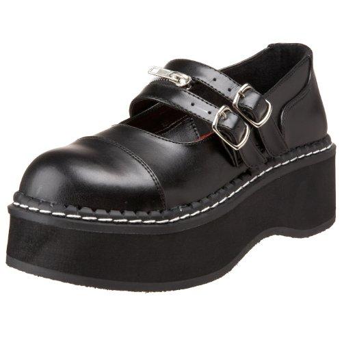 Demonia Emily-306 - Gothic Emo Lolita Mary Janes Schuhe 36-43, Größe:EU-38 / US-8 / UK-5