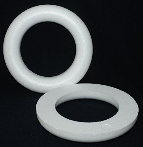 , 30 cm, RÖMER Vollmaterial / 1 Stück (Styropor-kranz)