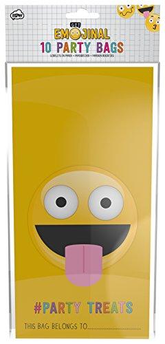 NPW Emoticon Papier Party Taschen-Gelb Partytüten Get emojinal (Behandlung Von Taschen Papier)