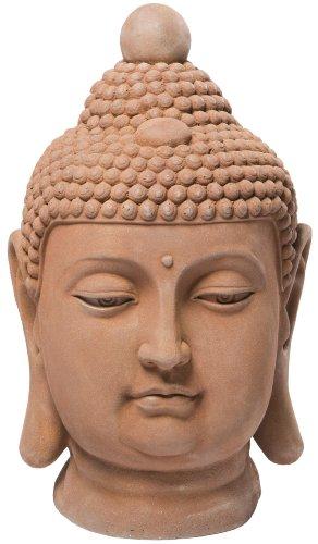 Alfresco Home Buddha-Büste Statuen, antik rost, -
