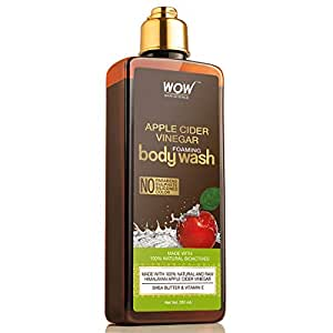 WOW Skin Science Apple Cider Vinegar Foaming Body Wash - No Parabens, Sulphate, Silicones & Color, 250 ml