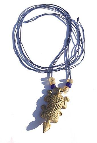 Barcelona Pendelleuchte (Ethnos Barcelona - Ursprünglicher goldener Metallschildkröteanhänger von Afrika)