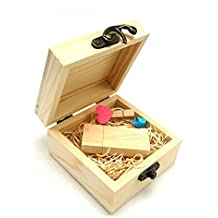 Luckcrazy. USB Flash Drive, memoria USB 2.0 de madera Stick Thumb Disk (16.0 GB)