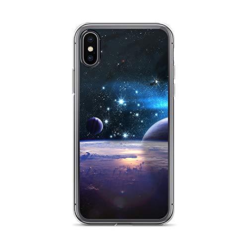 blitzversand Handyhülle Astronaut Space Kosmos kompatibel für Huawei Mate 20 Lite Galaxy Galaxie Milchstrasse Schutz Hülle Case Bumper transparent r& um Schutz M5