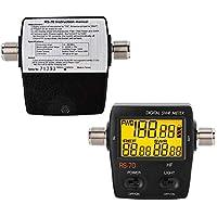 SWR digital, medidor de onda estacionaria digital de onda corta SWR para intercomunicador inalámbrico de 2 vías, pantalla de retroiluminación LED, relación de avance/retroceso/VSWR en un solo botón